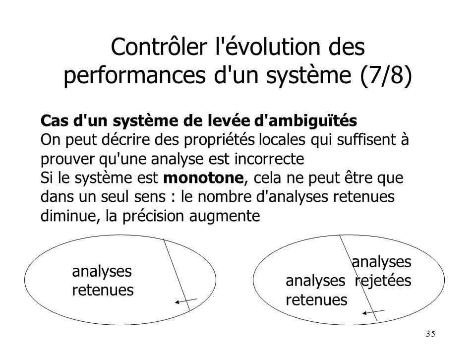 Contrôler l évolution des performances d un système (7/8)