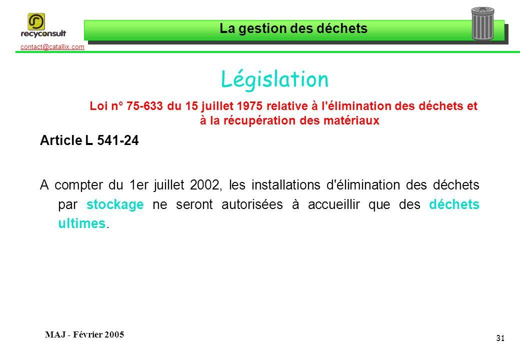 Législation Article L 541-24