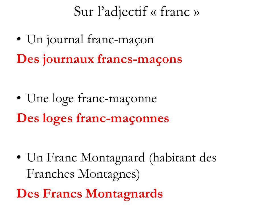 Sur l'adjectif « franc »
