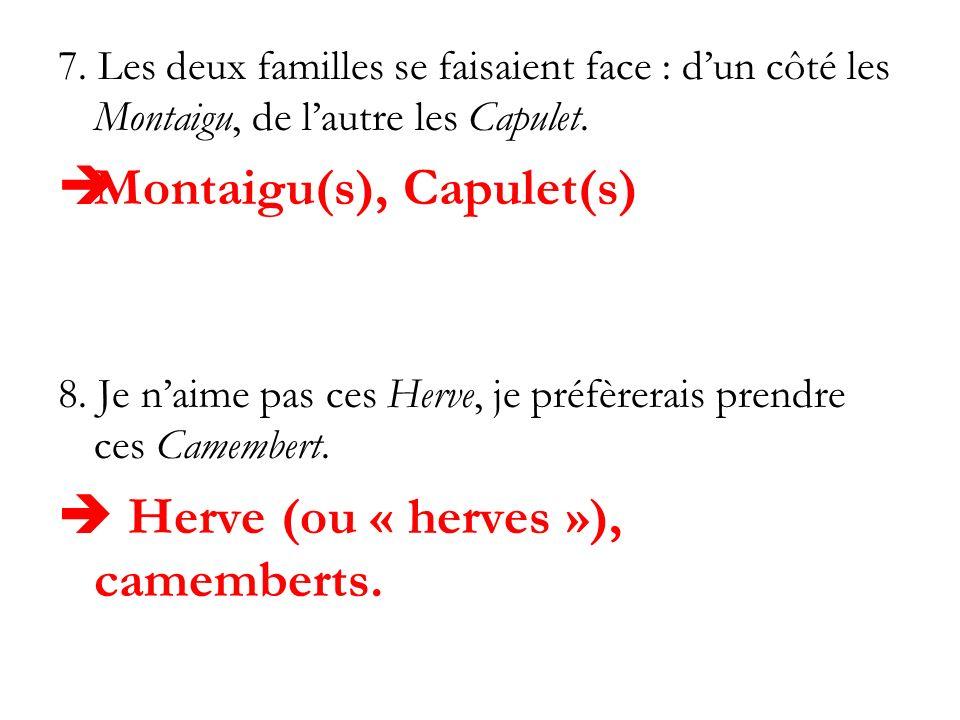 Montaigu(s), Capulet(s)