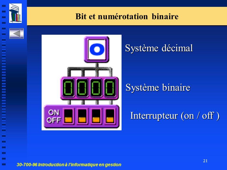 Bit et numérotation binaire