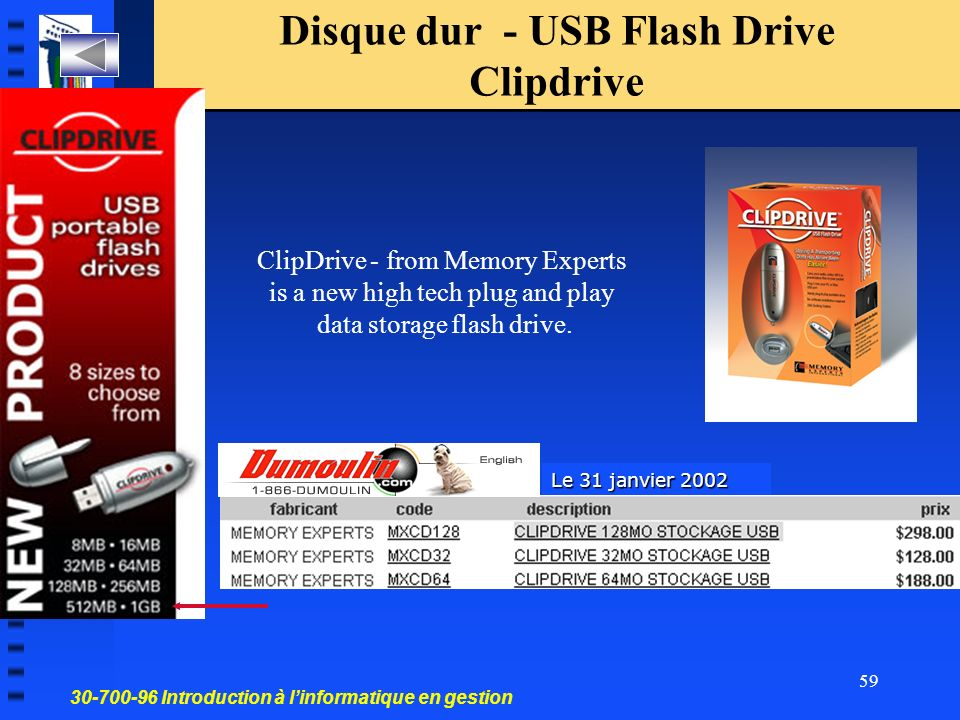 Disque dur - USB Flash Drive Clipdrive