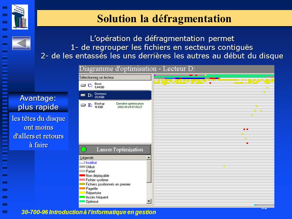 Solution la défragmentation