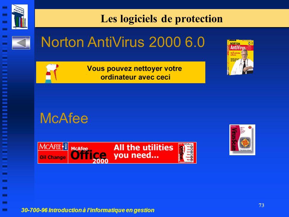 Les logiciels de protection