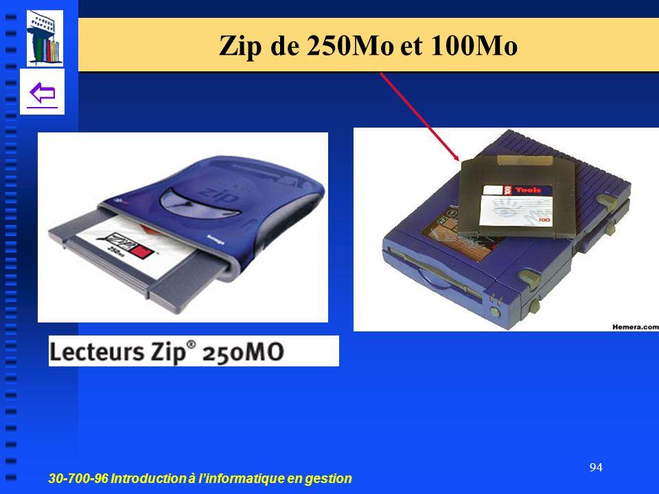 Zip de 250Mo et 100Mo 