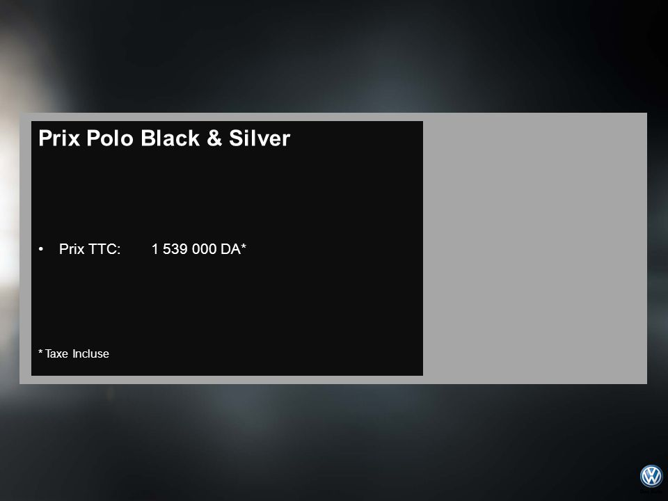 Prix Polo Black & Silver