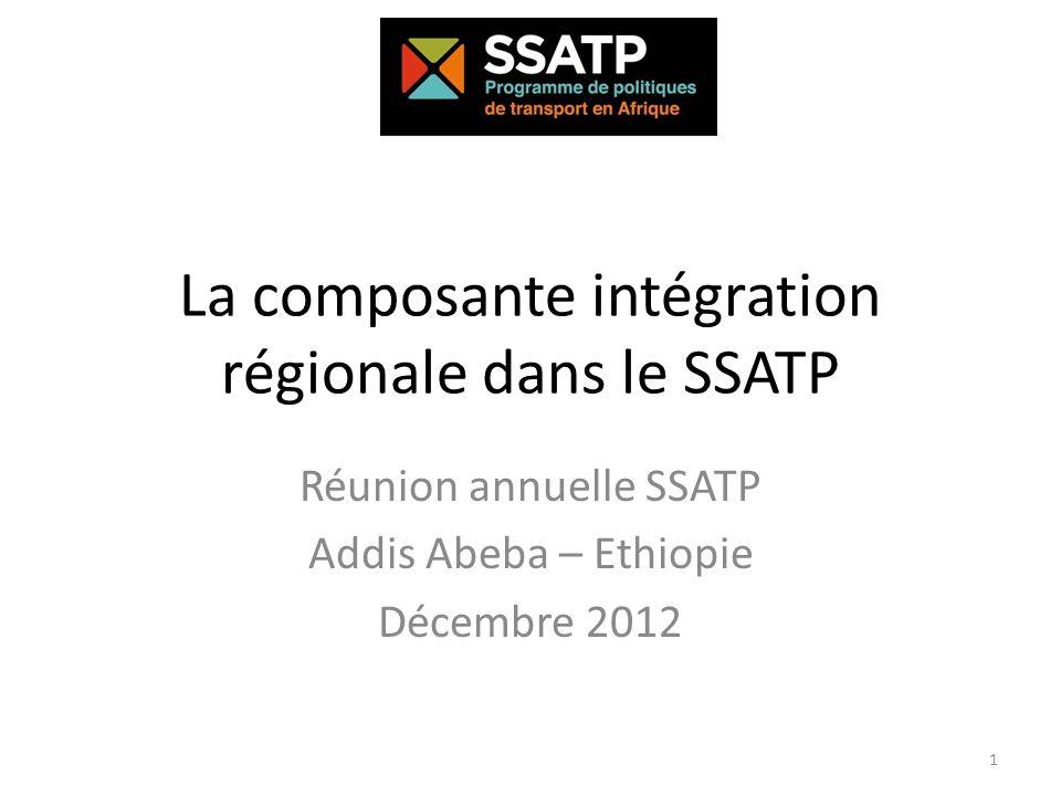 La composante intégration régionale dans le SSATP