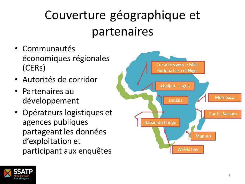 Couverture géographique et partenaires