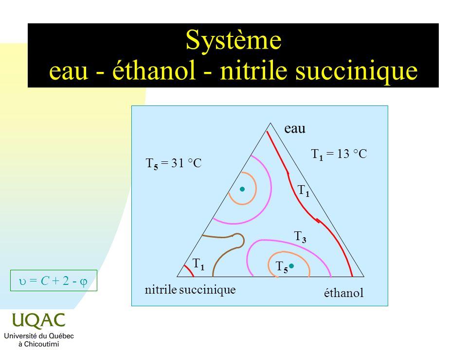 Système eau - éthanol - nitrile succinique