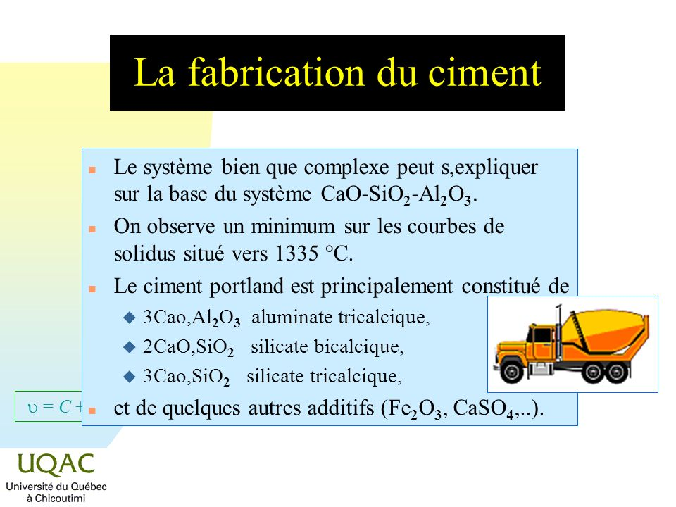 La fabrication du ciment
