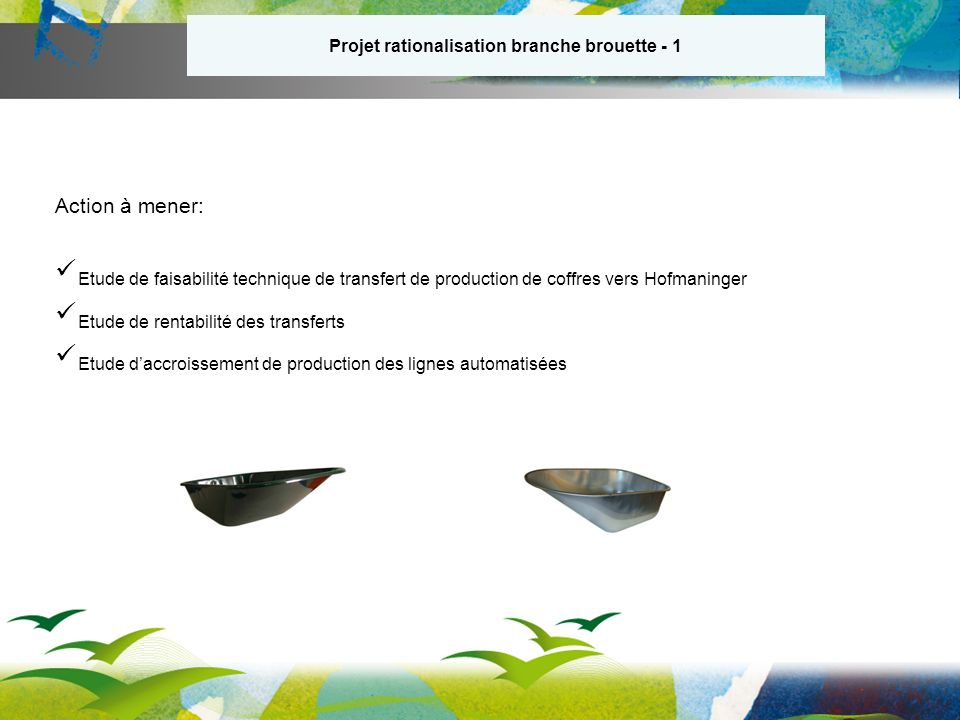 Projet rationalisation branche brouette - 1
