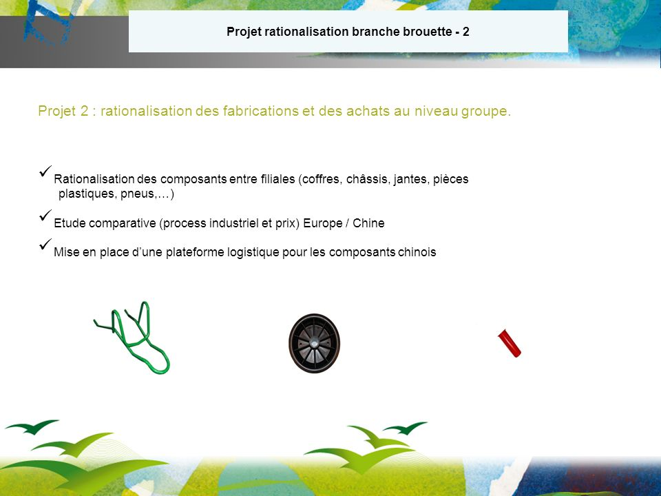 Projet rationalisation branche brouette - 2