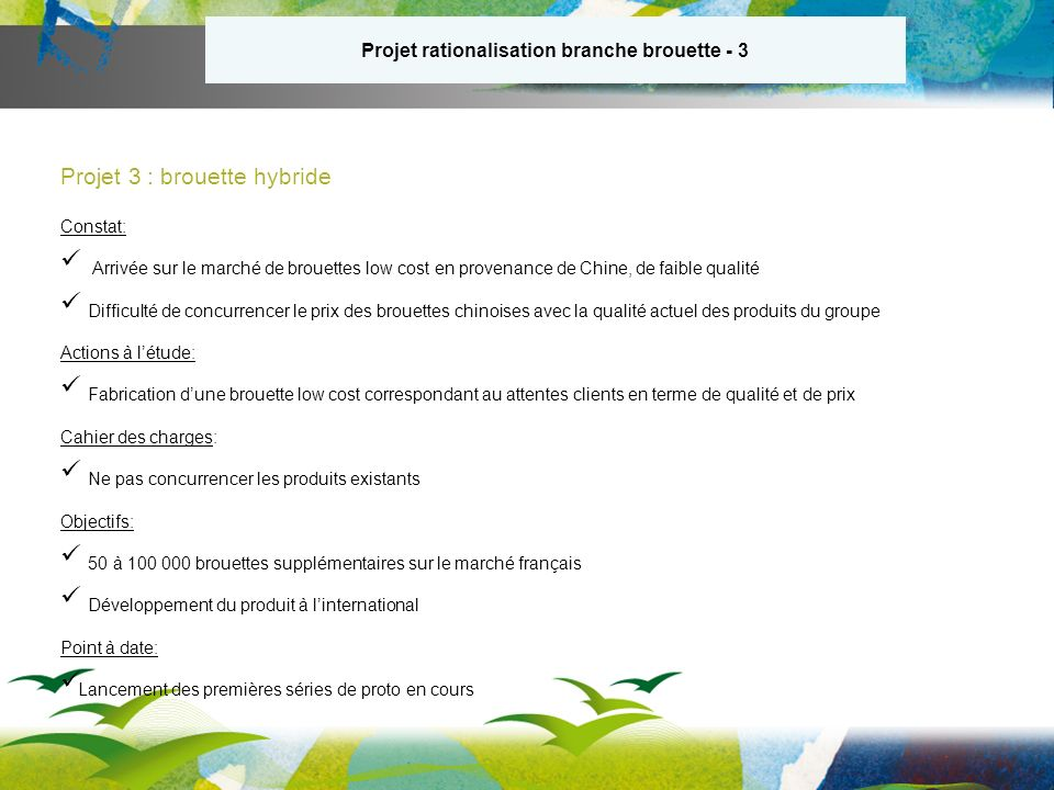 Projet rationalisation branche brouette - 3