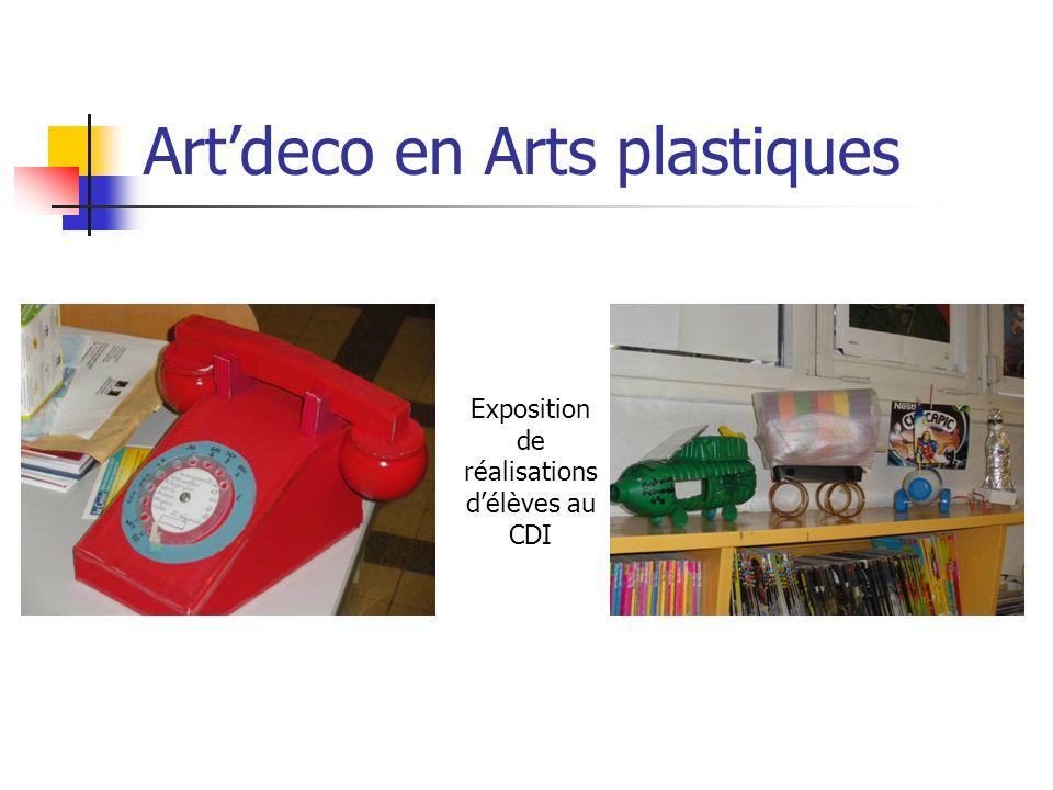 Art'deco en Arts plastiques