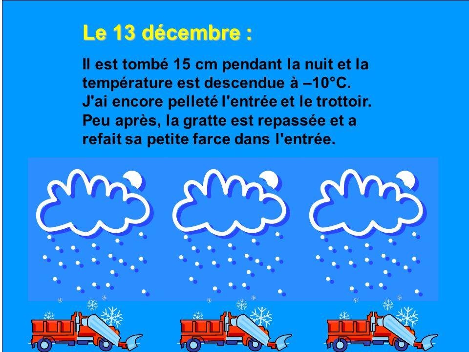 Le 13 décembre :