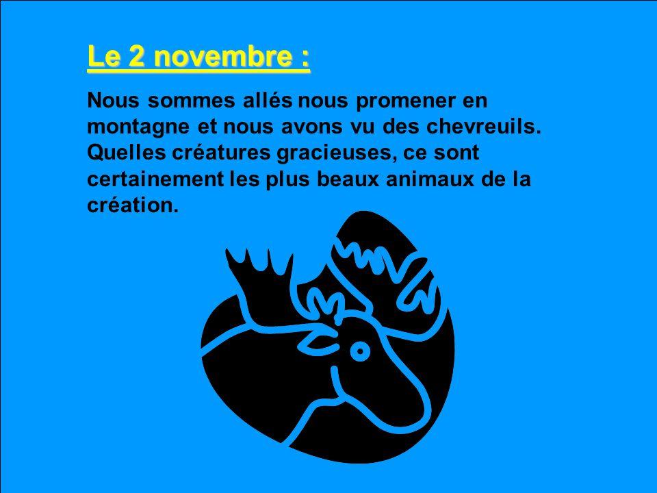 Le 2 novembre :