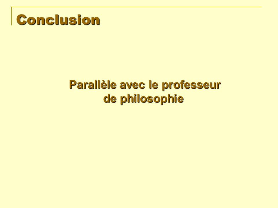 Conclusion de philosophie Parallèle avec le professeur