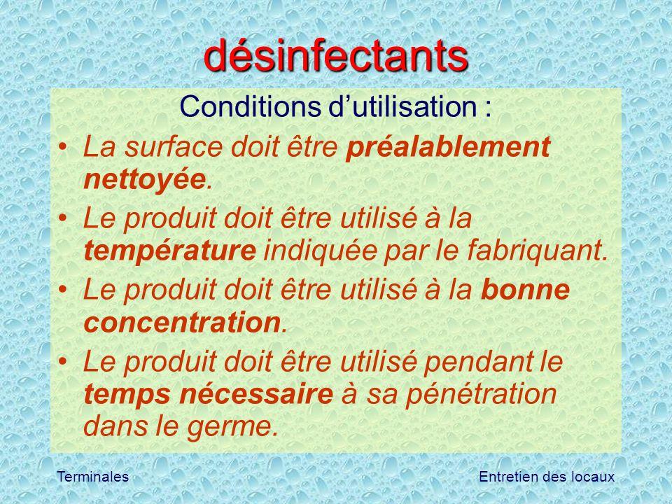 Conditions d'utilisation :