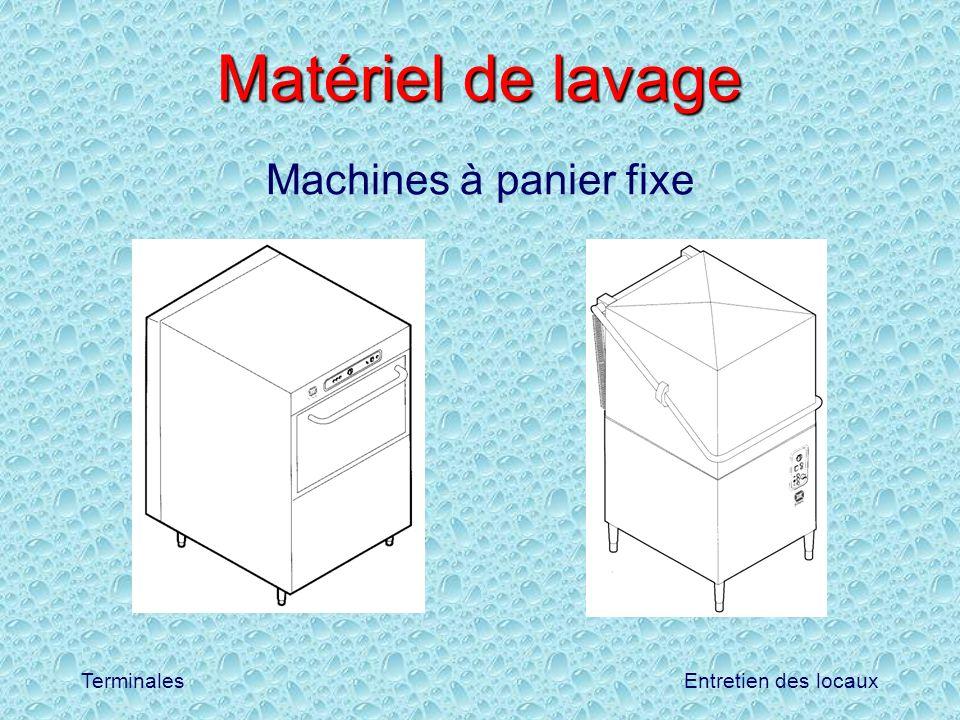 Matériel de lavage Machines à panier fixe
