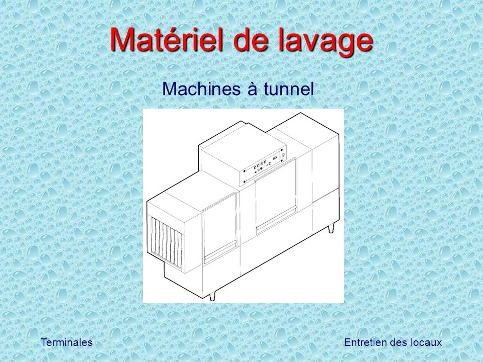 Matériel de lavage Machines à tunnel