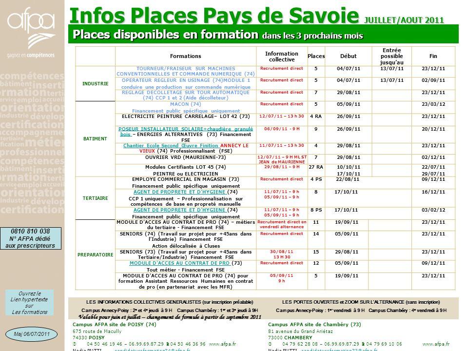 Infos Places Pays de Savoie JUILLET/AOUT 2011