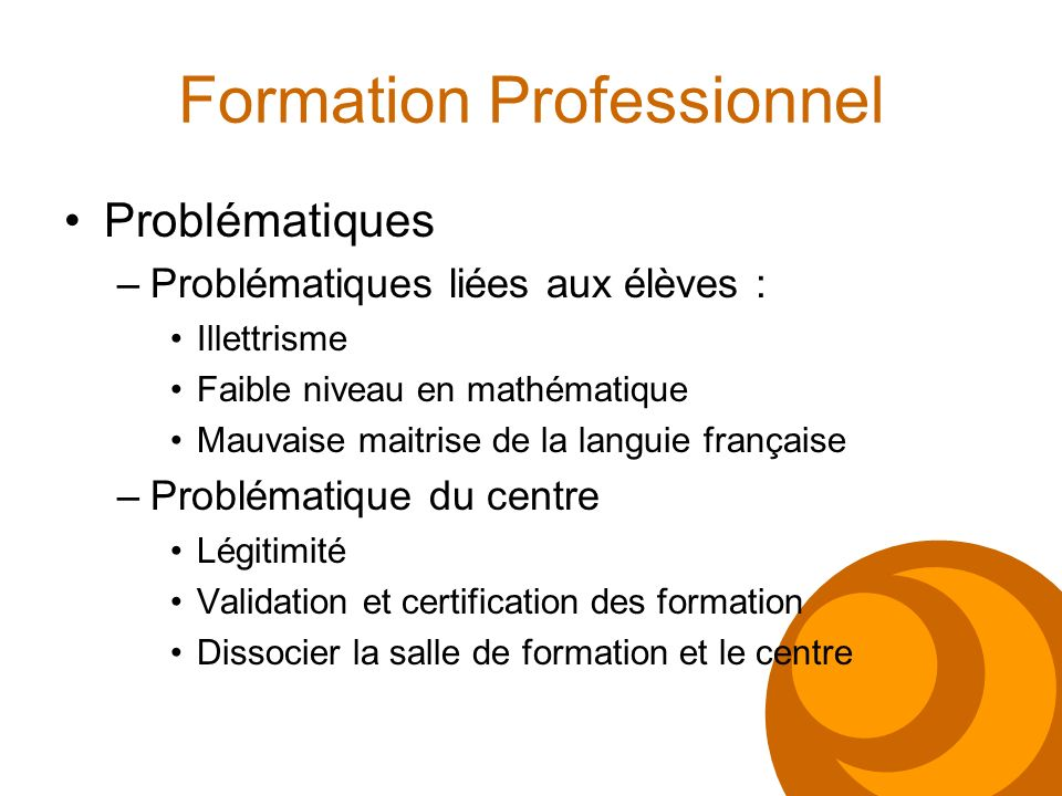 Formation Professionnel
