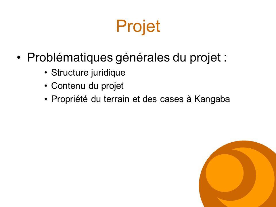 Projet Problématiques générales du projet : Structure juridique