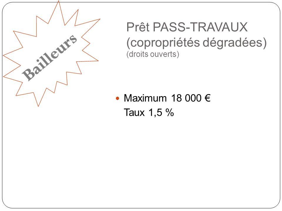 Prêt PASS-TRAVAUX (copropriétés dégradées) (droits ouverts)