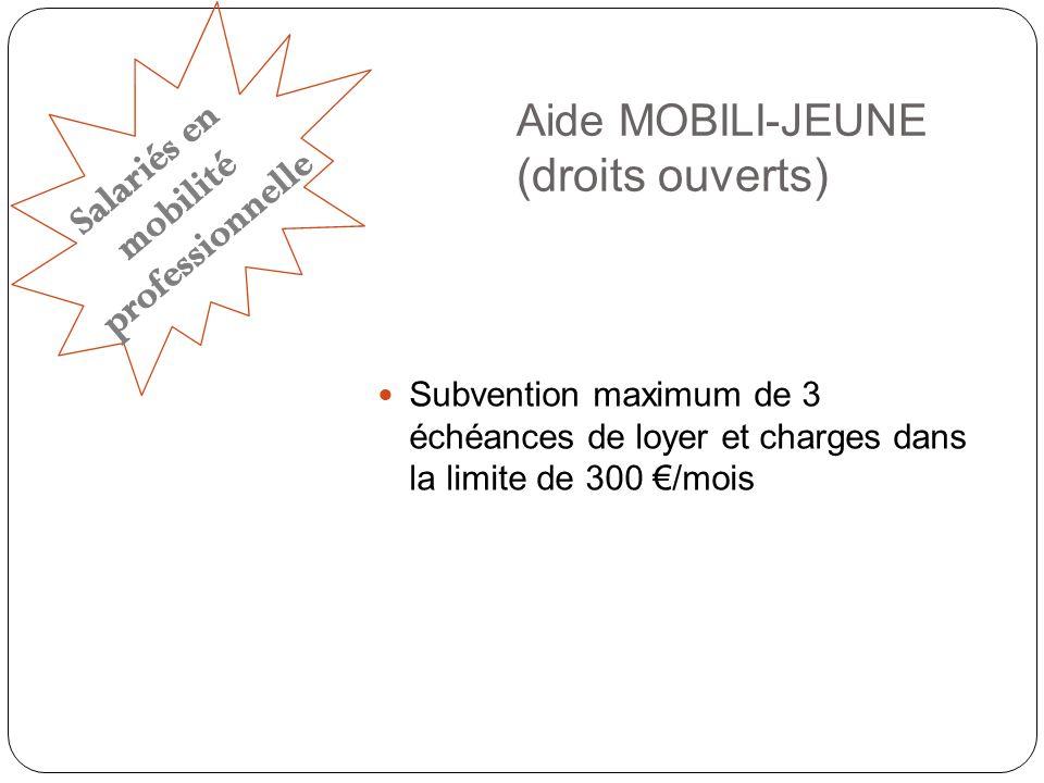 Aide MOBILI-JEUNE (droits ouverts)