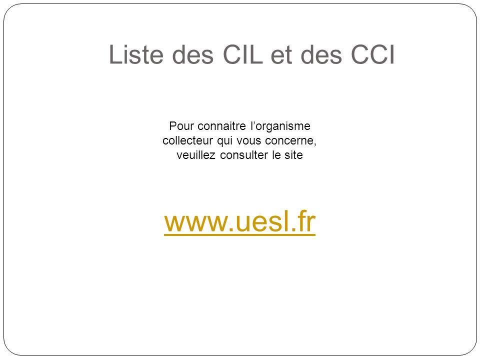 www.uesl.fr Liste des CIL et des CCI