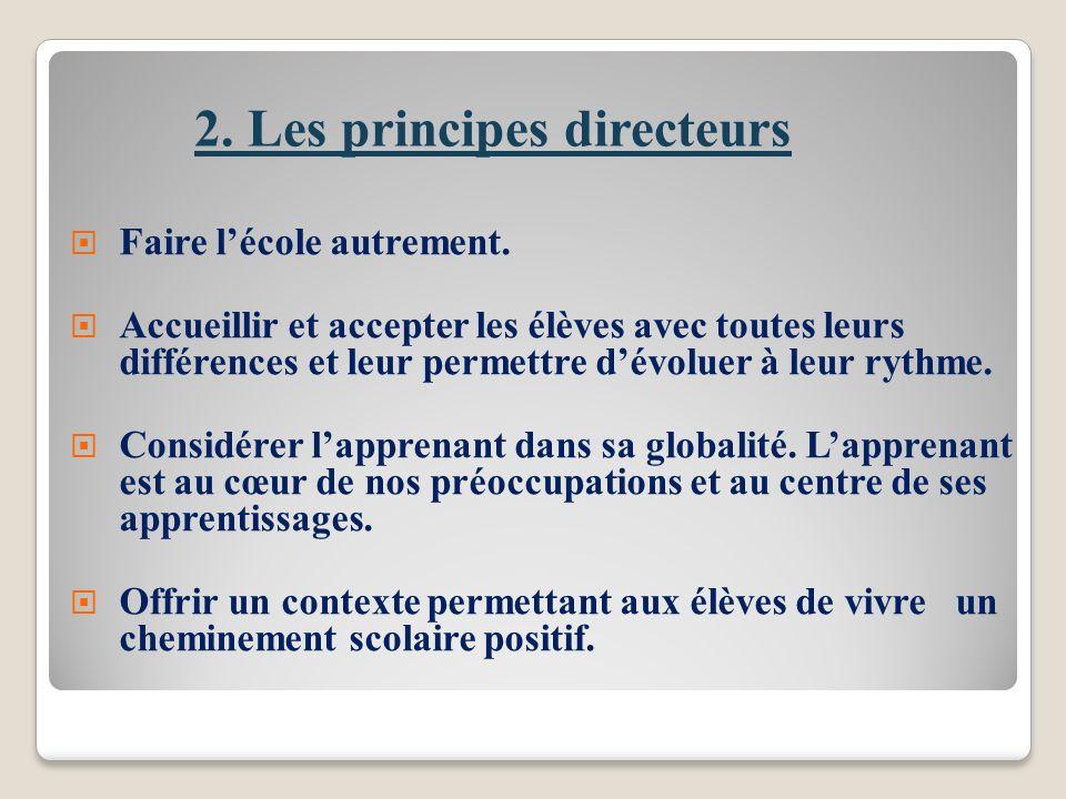 2. Les principes directeurs