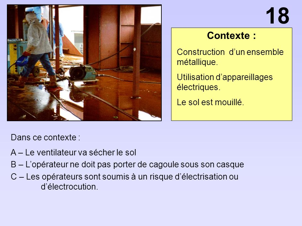 18 Contexte : Construction d'un ensemble métallique.