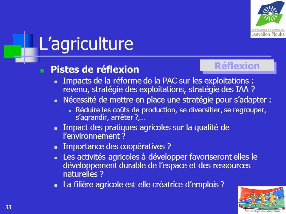 L'agriculture Réflexion Pistes de réflexion