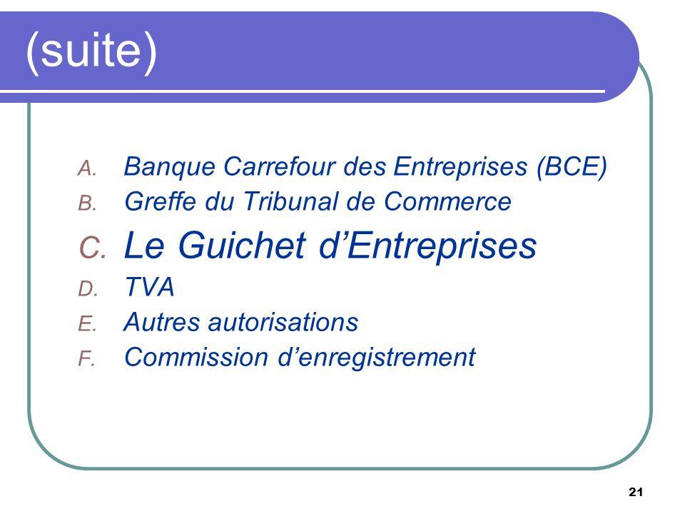 (suite) Le Guichet d'Entreprises