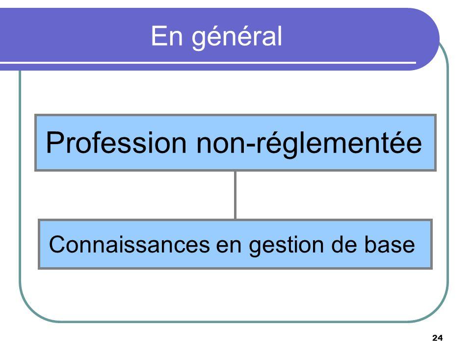 Profession non-réglementée