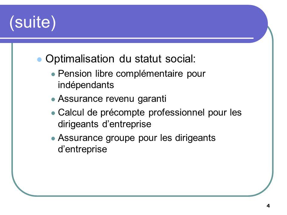 (suite) Optimalisation du statut social: