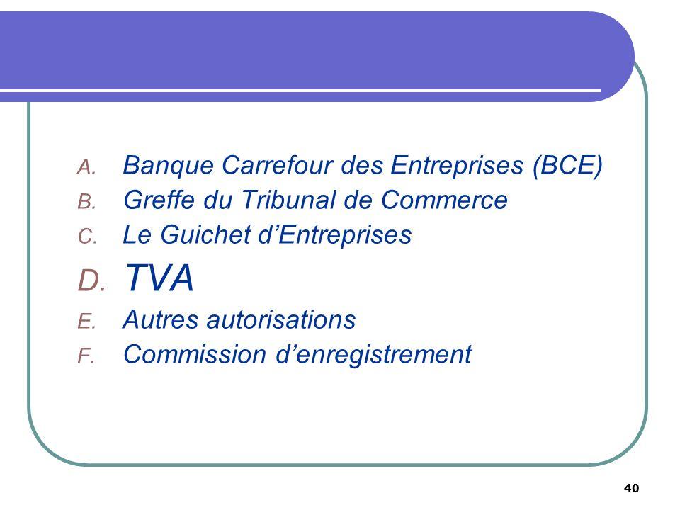 TVA Banque Carrefour des Entreprises (BCE)