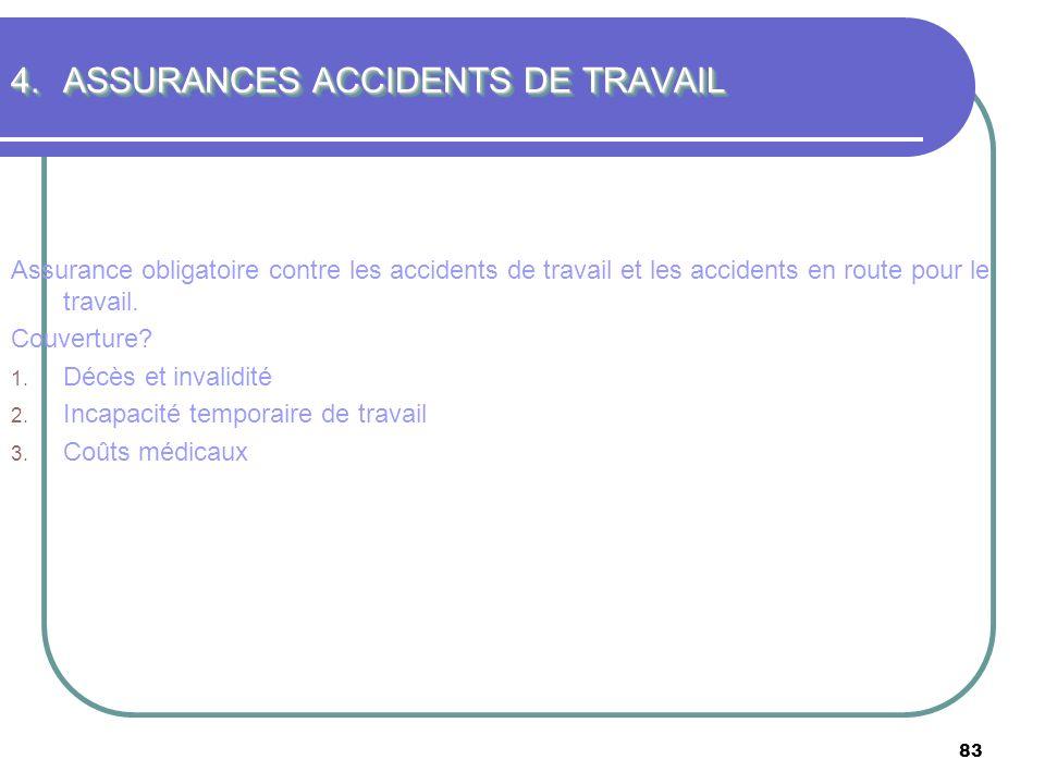 ASSURANCES ACCIDENTS DE TRAVAIL