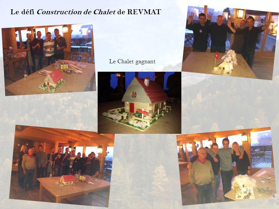Le défi Construction de Chalet de REVMAT