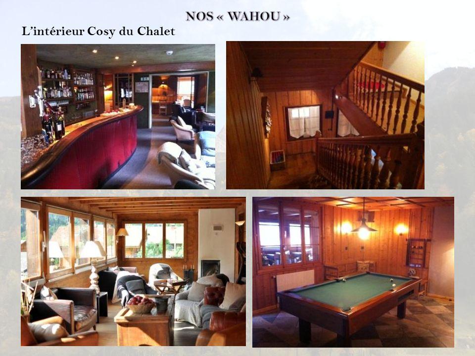 NOS « WAHOU » L'intérieur Cosy du Chalet