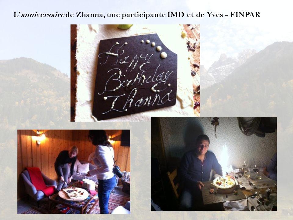 L'anniversaire de Zhanna, une participante IMD et de Yves - FINPAR