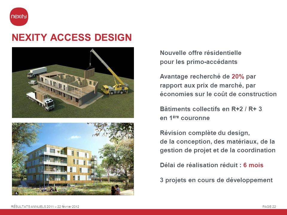 NEXITY ACCESS DESIGN Nouvelle offre résidentielle pour les primo-accédants.