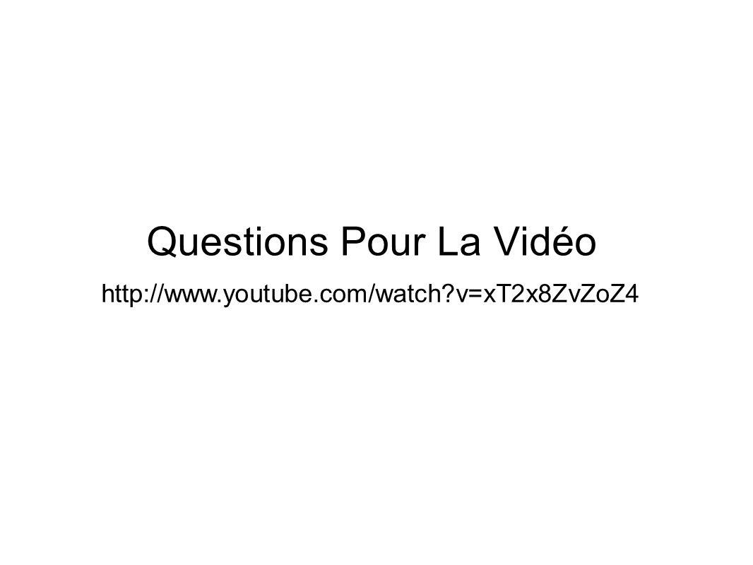 Questions Pour La Vidéo