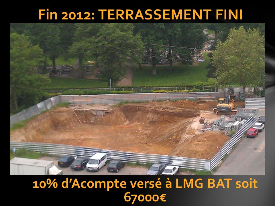 Fin 2012: TERRASSEMENT FINI