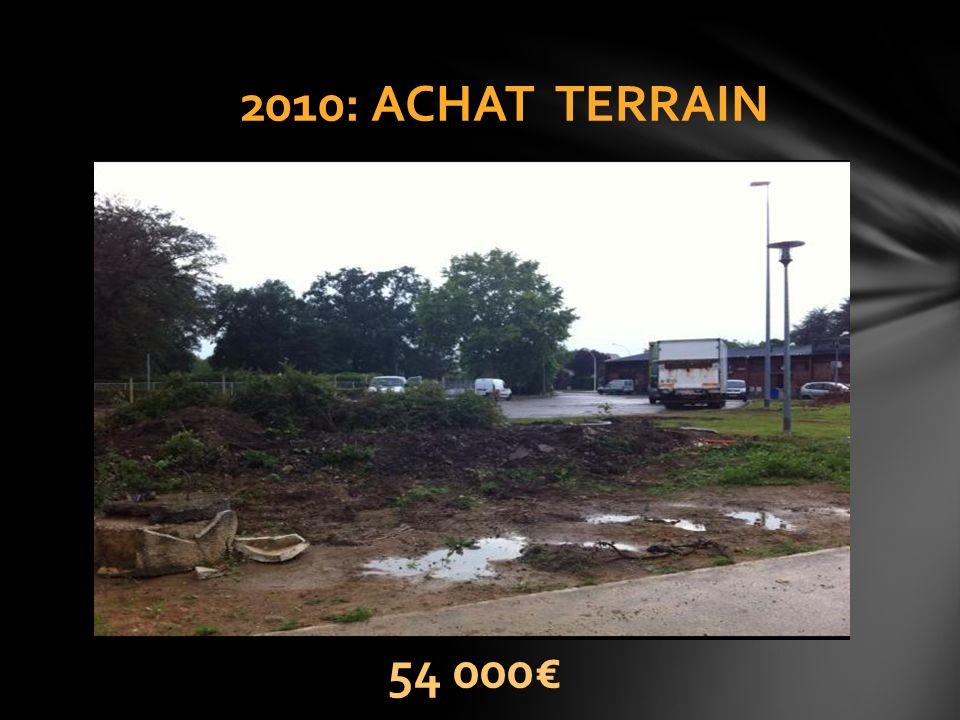 2010: ACHAT TERRAIN 54 000€