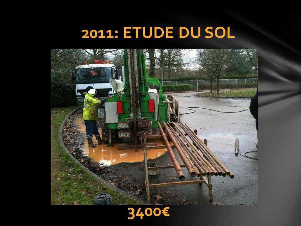 2011: ETUDE DU SOL 3400€