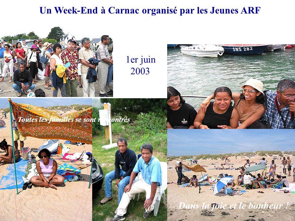 Un Week-End à Carnac organisé par les Jeunes ARF