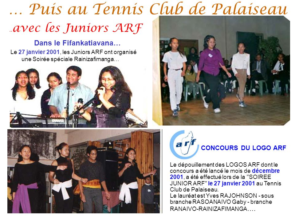 … Puis au Tennis Club de Palaiseau