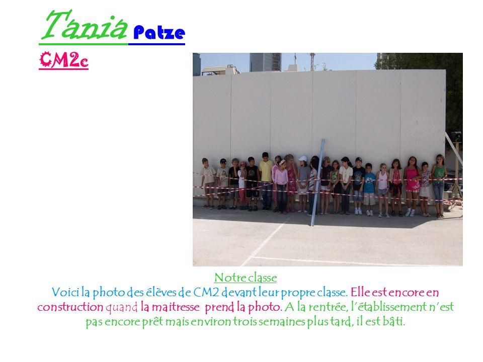 Tania Patze CM2c Notre classe