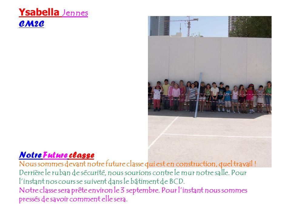 Ysabella Jennes CM2C Notre Future classe
